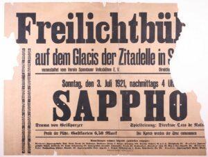 Plakat Freilichtbühne an der Zitadelle © Stadtgeschichtliches Museum Spandau_k